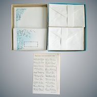 1950s Stationery Silver Metallic Embossed