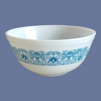 1960s Pyrex Bowl Horizon Blue Commemorative Apollo 11 Launch