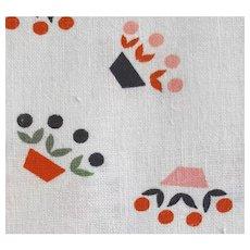 1930s - 1940s Cotton Flour - Feed Sack Fabric Art Deco