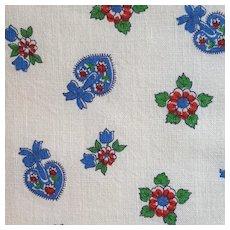 1930s - 1940s Cotton Flour - Feed Sack Fabric Pennsylvania Dutch