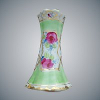 Hat Pin Holder Hand Painted With Gold 1900