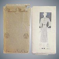 Beautiful 1930s Dress Sewing Pattern Size Large Bust 38