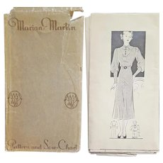 Beautiful 1930s Dress Sewing Pattern Bust 38