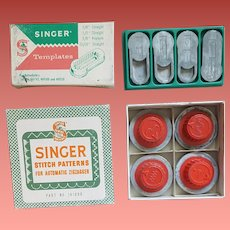 Singer Sewing Machine Attachments in Boxes