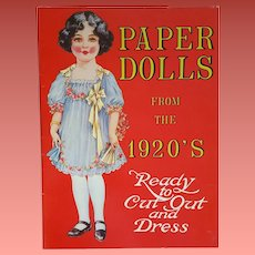 Paper Dolls from the 1920s By Merrimack Uncut 1983