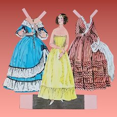 Godey's Paper Dolls 1840 - 1954 by Dover Pub. 1977