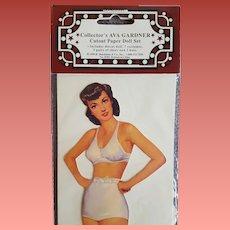 Ava Gardner Paper Doll with Wardrobe Mint 1999