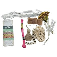 Crafters Lot Tatting Embroidery Lace Millinery and More