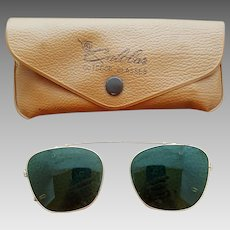 Vintage Clip On Sunglasses 1950's American Optical