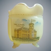 Antique Centerville S.D. High School Custard Glass Souvenir