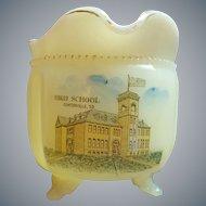 Antique Centerville S.D. High School Custard Glass Souvenir