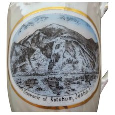 Antique Souvenir Ketchum Idaho Luster Ware Creamer