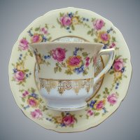 Demi Tasse Cup and Saucer Hostess by Gold Castle