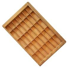 Antique Wood Type Tray Shadow Box Display