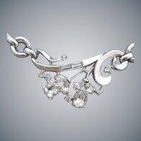 1950s Rhinestone Necklace Trifari by Alfred Philippe