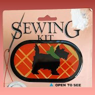Vintage Scottish Terrier Sewing Kit Pocket / Purse Size MIP dated 1984