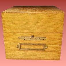 Vintage Oak File Box Remington Rand Dovetail Joints Typewriter