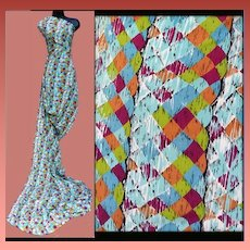 1930s-1940s Rayon Crepe Sewing Fabric 4 - 1/2 Yards Mint Condition