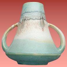 1930s Art Deco Pottery Vase Japan Mimic of Roseville Monticello
