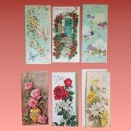 1960s Vintage Greeting Cards Birthday Glitter Embossed