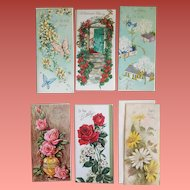 1960s Vintage Greeting Cards Birthday Glitter Embossed