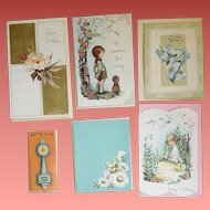 1950s - 1960s Greeting Cards Unused Embossed Glitter