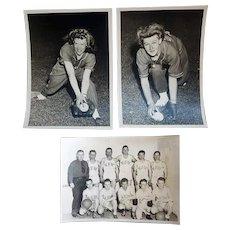 Vintage Sports Photographs Women's Baseball VFW Basketball