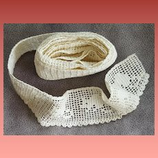 Vintage Hand Crochet Trim 1 yard Plus Mint Condition 1940