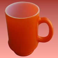 Vintage Coffee Mug Cup Orange Peel over Milk Glass 8 oz