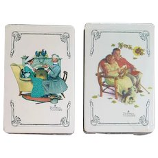 2 Decks Playing Cards Norman Rockwell Courting Couple Sealed