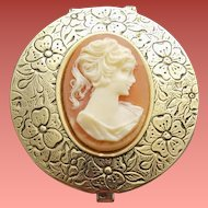 Embossed Pill Box Fabulous Faux Lady Cameo