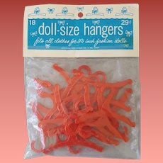 1960s Barbie Doll Size Hangers Full Package Never Opened