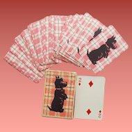 Miniature Scottie Dog Playing Cards Full Set in Box Scottish Terrier