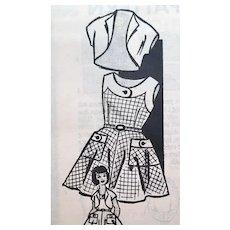 1950s Vintage Sewing Pattern Little Girl's Sun Dress Bolero Size 4