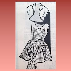 1950s Vintage Sewing Pattern Little Girl's Sun Dress Bolero Size 4