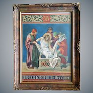Antique Print Jesus is Placed in the Sepulchre Vintage 1898