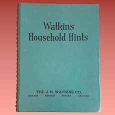 1941 Watkins Household Hints Book 1st Edition HB