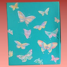 Boxed Stationery Butterflies Hallmark Sealed 1970s
