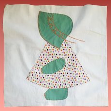 9 Vintage Quilt Blocks Sunbonnet Sue Unused