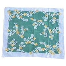 1950s Cotton Tablecloth Dogwood Flowers Tea Size