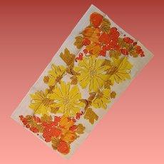 Vintage Vera Neumann Linen Towel Lady Bug Mint