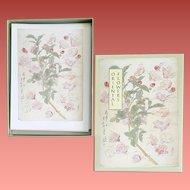 Box of Vintage  Asian Note Cards Japanese Botanical Prints
