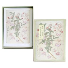 Box of Vintage  Asian Note Cards Japanese Botanical Prints