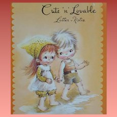Vintage Stationery Cute 'n Lovable 24 Decorated Sheets