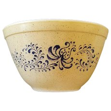 Vintage Pyrex Homestead 401 Speckled Small Mixing Bowl Vintage Tan and Blue