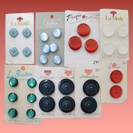 Vintage Buttons 9 Sets Mint on Cards 30 Total Moonglow +