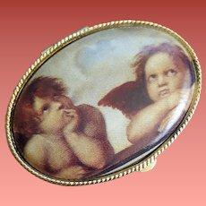 1970s Pill Box Cherubs from Sistine Chapel Angels