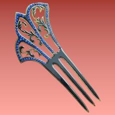 Rhinestone Studded Hair Comb Art Deco Drama