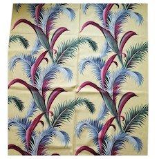 1950s Barkcloth Sewing Fabric Mid Century Unused 6 Plus Yards