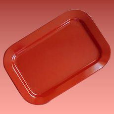 Large Red Texas Ware Tray Bakelite Positive
